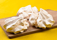 Meringue homemade Stock Images