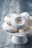 Meringue Nests on a Cake Stand Stock Image