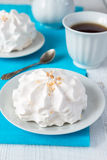 Meringue with nuts. Selective focus Royalty Free Stock Photo