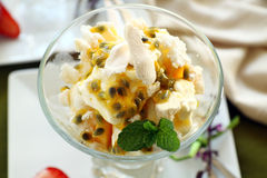 Meringue And Passionfruit Royalty Free Stock Image