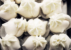 Meringue pastries Stock Photo