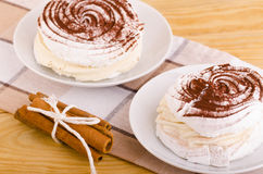 Meringue pastry Royalty Free Stock Images