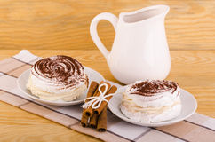 Meringue pastry Stock Photo