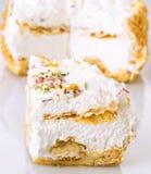 Meringue pie portion Stock Photo