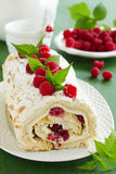 Meringue roulade Royalty Free Stock Image