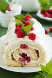 Meringue roulade Stock Photography