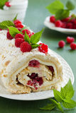 Meringue roulade stock images