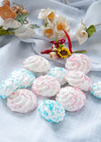 Meringue small tasty sweet made from sugar Royalty Free Stock Photography