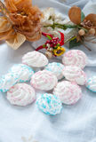 Meringue small tasty sweet made from sugar Stock Photography