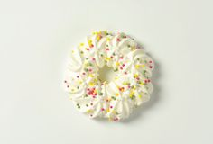 Meringue wreath cookie Royalty Free Stock Photography