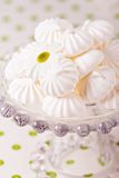 Meringues on a cake stand Stock Images