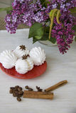 Meringues with cinnamon Stock Photography