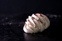 Meringues with cocoa powder Stock Photos