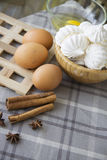 Meringues cooking Stock Images