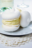Meringues with cream Royalty Free Stock Images