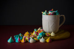 Meringues in a cup Stock Photo