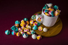 Meringues in a cup Stock Images