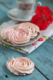 Meringues in the form of roses Royalty Free Stock Image