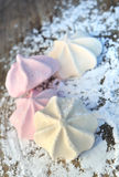 Meringues on sugar Royalty Free Stock Photography