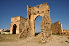 Merinid Tombs Ruins in Fes, Morocco Royalty Free Stock Images