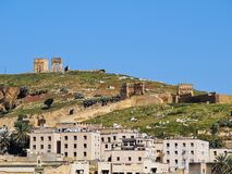 Merinid Tombs Ruins in Fes, Morocco Stock Photos