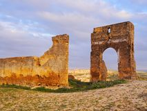Merinid Tombs Ruins in Fes, Morocco Stock Photo