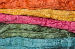 Merino and silk fibers. Colorfull fleeces for spinning and handycrafts royalty free stock images