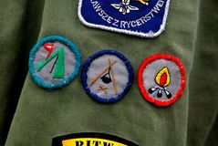 Merit badge Royalty Free Stock Photography