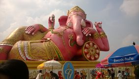 Merit. Ganesha at Wat saman in Thailand Stock Images