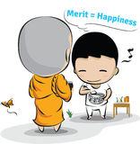 Merit is Happiness Stock Images