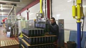 Merk cava mousserende wijn in Catalonië wordt geproduceerd dat stock video