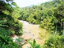 Merk de rivier aan een hoogte royalty-vrije stock foto