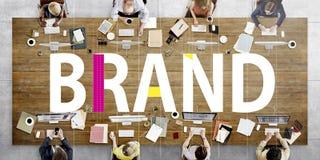 Merk die Copyright-Etiket Logo Trademark Concept brandmerken stock afbeelding