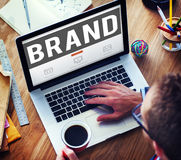 Merk die Copyright-Handelsmerk Marketing Concept brandmerken stock foto