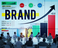 Merk die Logo Commercial Copyright Emblem Concept brandmerken Royalty-vrije Stock Afbeeldingen