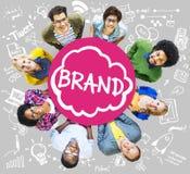 Merk het Brandmerken de Technologieconcept van het Verbindingsidee royalty-vrije stock afbeelding