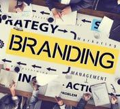 Merk het Brandmerken Etiket Marketing het Concept van het Profielhandelsmerk stock foto's