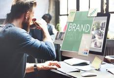 Merk het Brandmerken Etiket Marketing het Concept van het Profielhandelsmerk stock foto