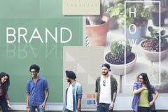 Merk het Brandmerken Etiket Marketing het Concept van het Profielhandelsmerk stock fotografie