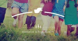 Merk het Brandmerken Hoogte - kwaliteit Exclusief Concept royalty-vrije stock foto's