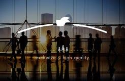 Merk het Brandmerken Hoogte - kwaliteit Exclusief Concept stock afbeeldingen