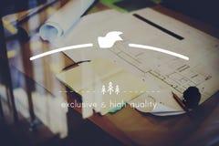 Merk het Brandmerken Hoogte - kwaliteit Exclusief Concept royalty-vrije stock foto