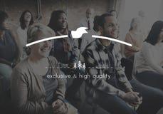 Merk het Brandmerken Hoogte - kwaliteit Exclusief Concept royalty-vrije stock afbeelding