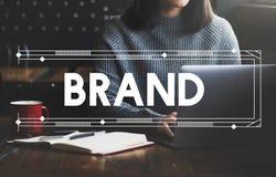 Merk het Brandmerken Marketing het Commerciële Concept van het Reclameproduct royalty-vrije stock foto's