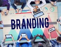 Merk het Brandmerken Marketing het Concept van de Productwaarde stock fotografie