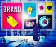 Merk het Brandmerken Marketing Ideeën Creatief Concept royalty-vrije stock fotografie