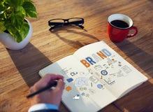 Merk het Brandmerken Reclame Commercieel Marketing Concept royalty-vrije stock fotografie