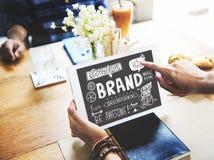 Merk het Brandmerken Reclame Commercieel Marketing Concept royalty-vrije stock afbeeldingen