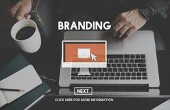 Merk het Brandmerken Reclame Commercieel Marketing Concept royalty-vrije stock foto's