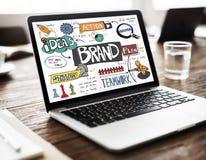 Merk het Brandmerken Strategie die Creatief Concept op de markt brengt royalty-vrije stock foto